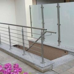 Geländer Kellerabgang, in Verbindung mit Sichtschutz